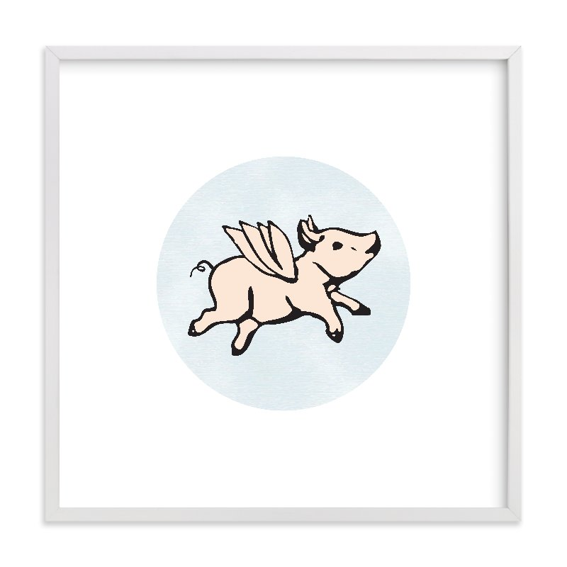 """When Pigs Fly"" - Limited Edition Art Print by Katherine Moynagh in beautiful frame options and a variety of sizes."