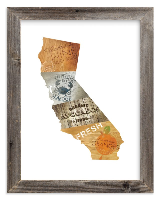 """California Flavor"" - Art Print by Susie Allen in beautiful frame options and a variety of sizes."