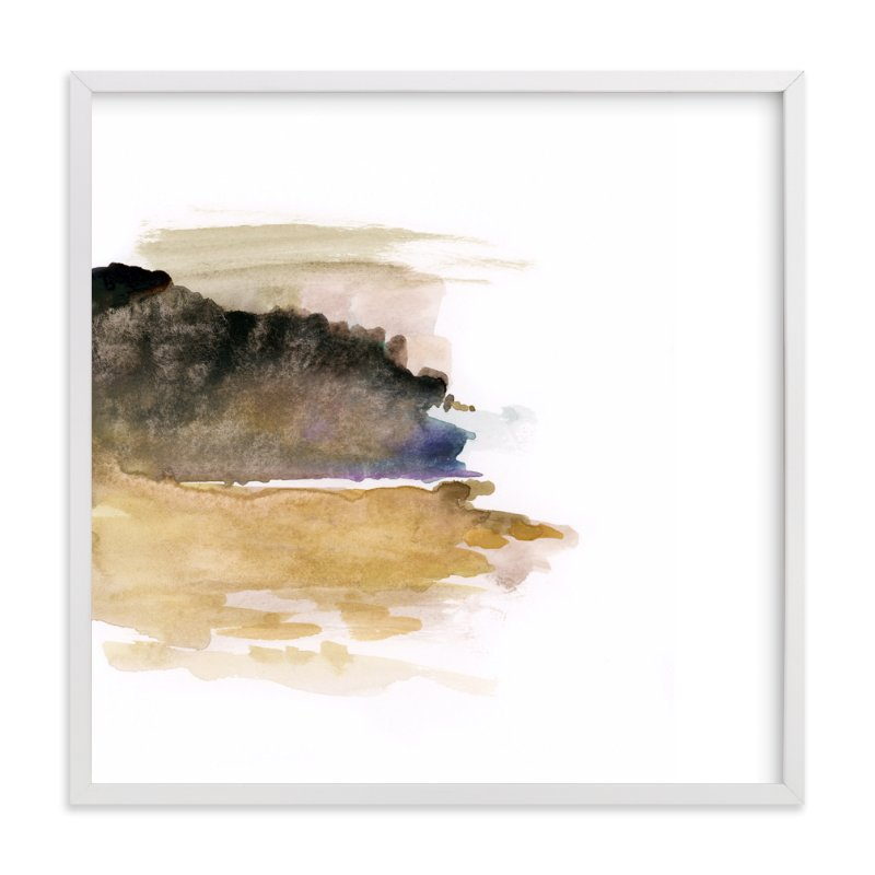 """White Space 1"" - Art Print by Mande in beautiful frame options and a variety of sizes."