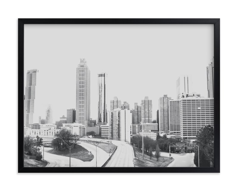 """""""The City in Black and White"""" - Art Print by Melinda Denison in beautiful frame options and a variety of sizes."""