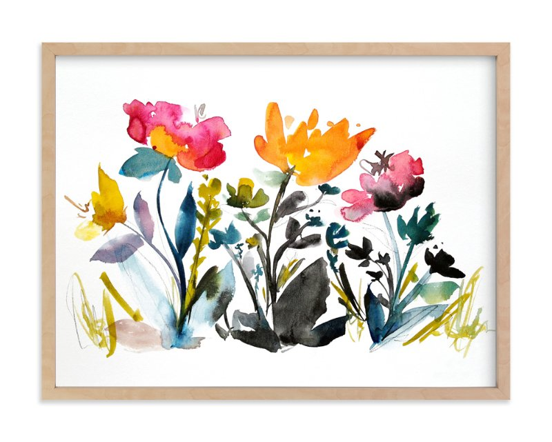 """""""island wildflowers no.2"""" - Art Print by Kiana Mosley in beautiful frame options and a variety of sizes."""