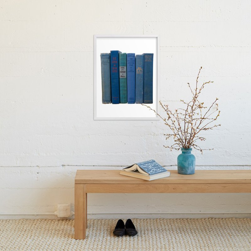 """Bound in Blue"" - Art Print by That Girl Studio in beautiful frame options and a variety of sizes."
