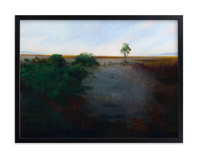 """Misty Shoreline"" - Art Print by Robert Deem in beautiful frame options and a variety of sizes."