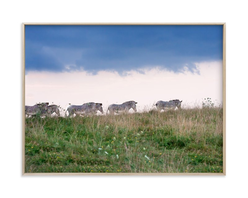 """""""Striped Ridge"""" - Art Print by Erin Niehenke in beautiful frame options and a variety of sizes."""