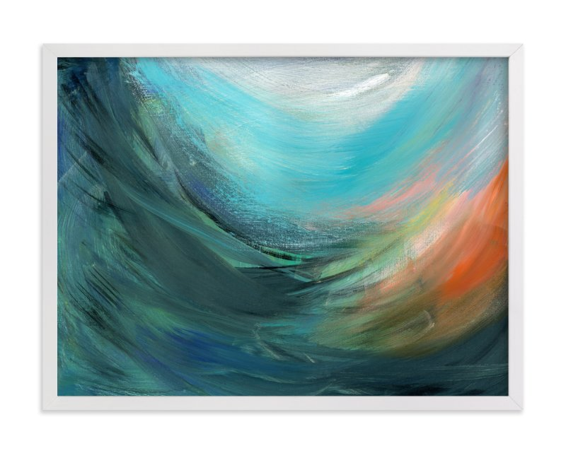 """Inside the Wave"" - Art Print by Monica Janes Fine Art in beautiful frame options and a variety of sizes."