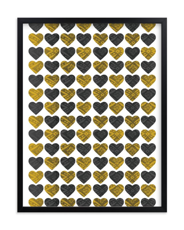 """""""Lots of Hearts"""" - Art Print by Max and Bunny in beautiful frame options and a variety of sizes."""