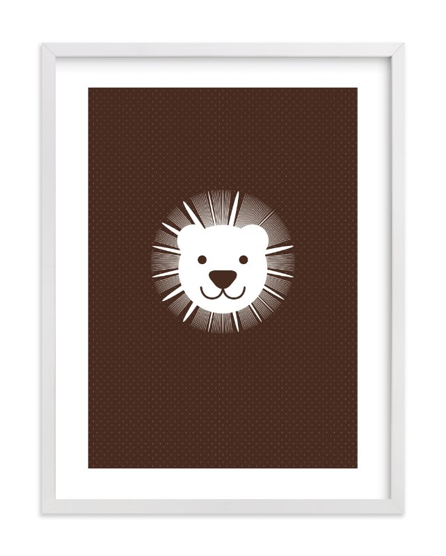 """Sophisticated Lion"" - Art Print by three percent milk in beautiful frame options and a variety of sizes."