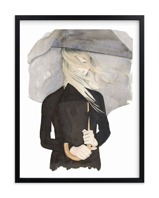 """""""Under My Umbrella"""" - Art Print by Dena Cooper in beautiful frame options and a variety of sizes."""