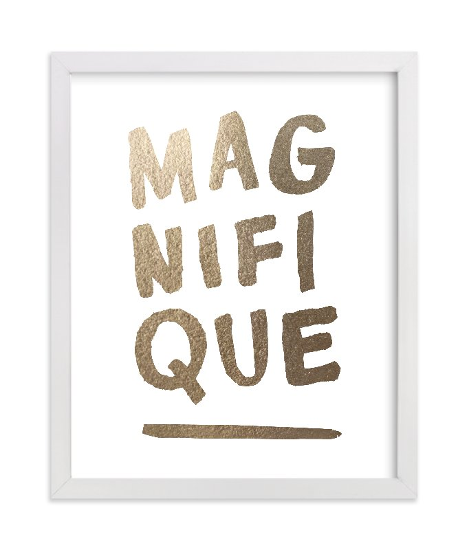 """Magnifique"" - Foil-pressed Art Print by Marabou Design in beautiful frame options and a variety of sizes."