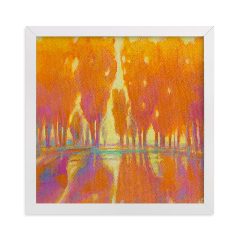 """Golden Hour"" - Art Print by Vicki Rawlins in beautiful frame options and a variety of sizes."