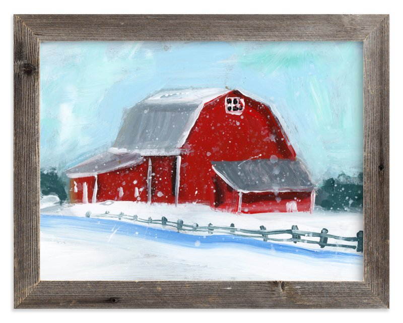 """Winter Retreat"" - Art Print by Lindsay Megahed in beautiful frame options and a variety of sizes."