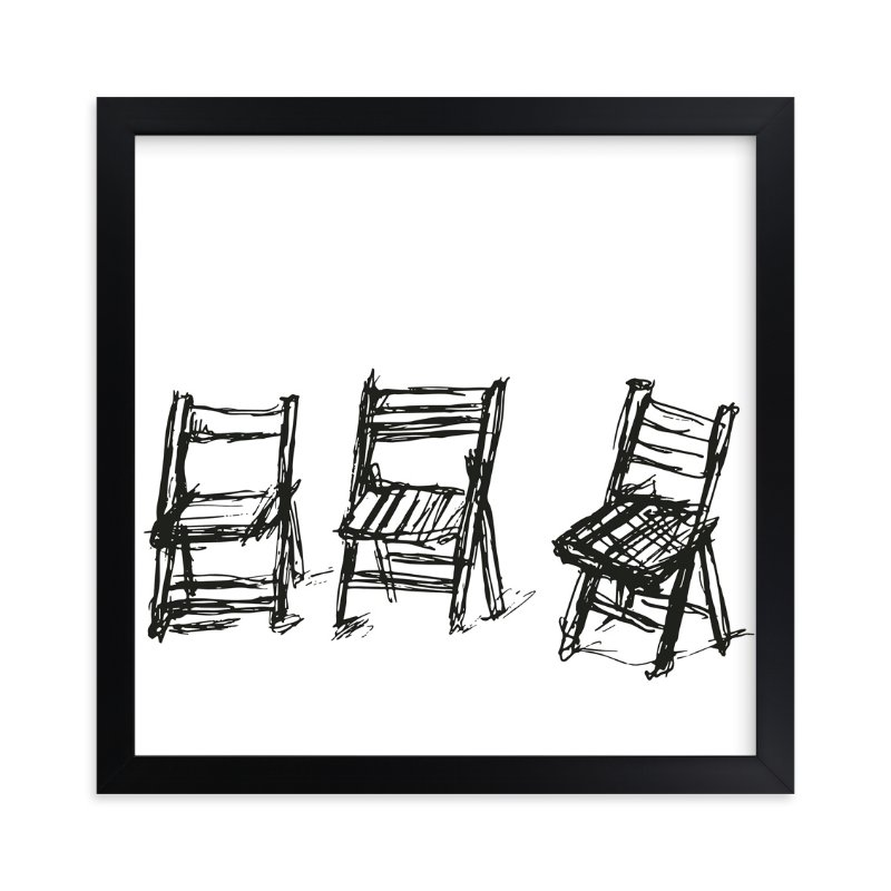 """Three Chairs"" - Art Print by Michael Hovitch in beautiful frame options and a variety of sizes."