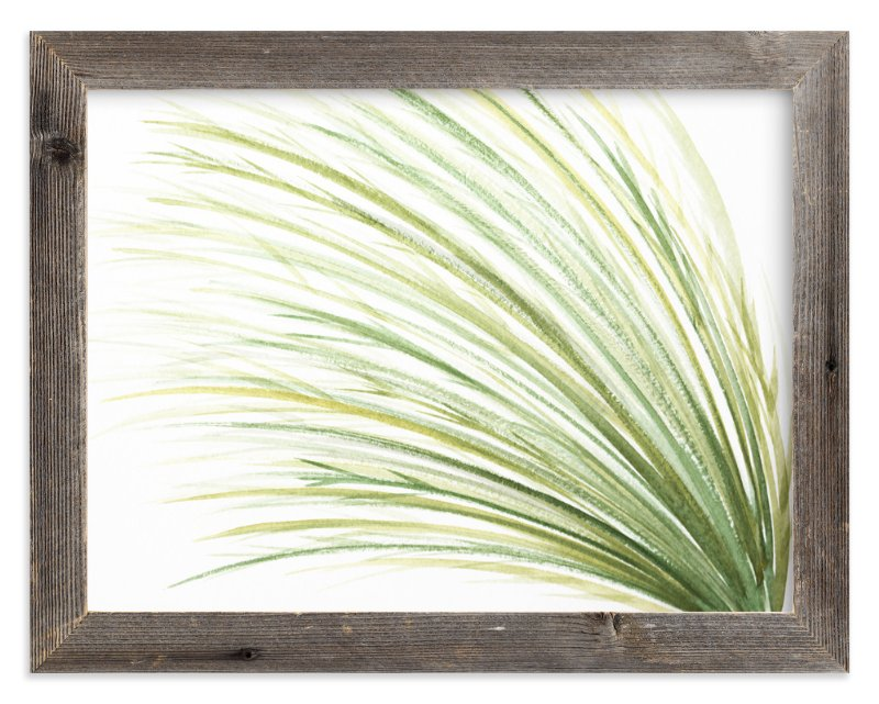"""Tall Grass Watercolor"" - Art Print by Loree Mayer in beautiful frame options and a variety of sizes."
