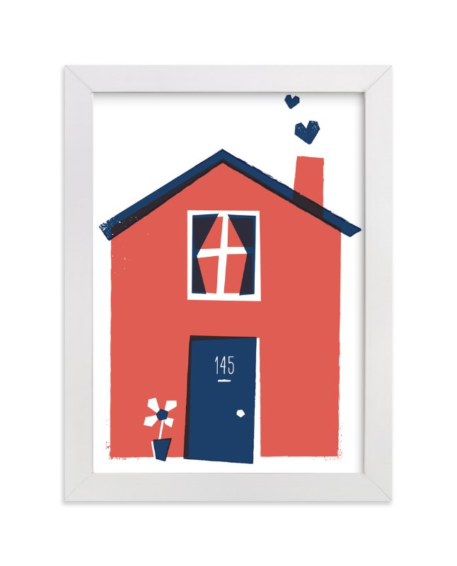 """Happy Home"" - Art Print by Paper Rose in beautiful frame options and a variety of sizes."
