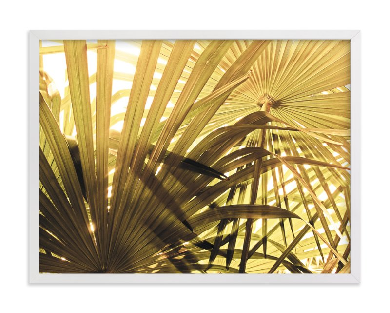 """Green Palms"" - Art Print by Simi Gauba in beautiful frame options and a variety of sizes."