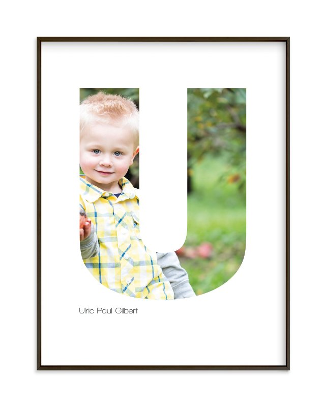 """""""U - Within Letters of You"""" - Children's Custom Photo Art Print by Heather Francisco in beautiful frame options and a variety of sizes."""