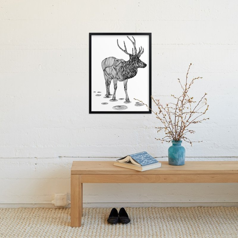 """The Morning Walk"" - Art Print by Matt Lu in beautiful frame options and a variety of sizes."