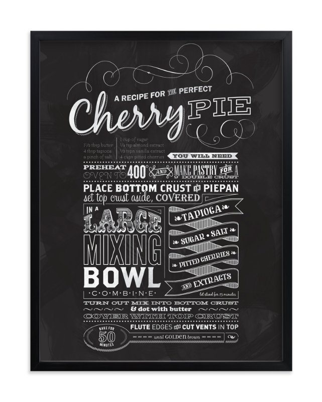 """Cherry Pie"" - Art Print by One Little Bird in beautiful frame options and a variety of sizes."