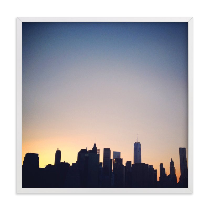 """City and Sky"" - Art Print by Lauren Matsumoto in beautiful frame options and a variety of sizes."