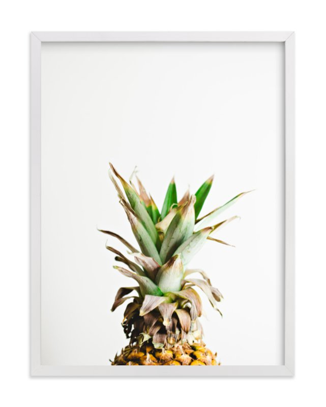 """Pining for Pineapple"" - Art Print by Joni Tyrrell in beautiful frame options and a variety of sizes."