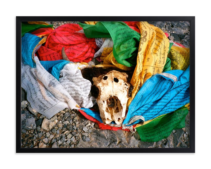 """""""Prayer Flags"""" - Art Print by Jill Fisher in beautiful frame options and a variety of sizes."""