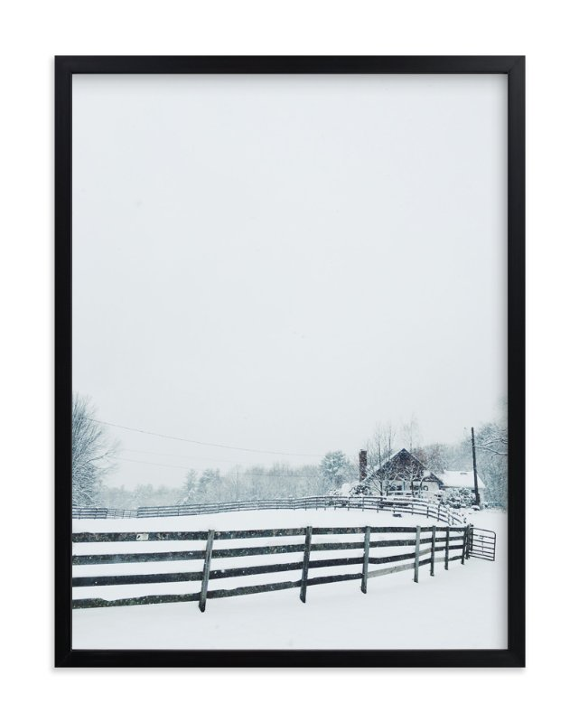 """Cold Cabin"" - Art Print by Kate Johnson in beautiful frame options and a variety of sizes."
