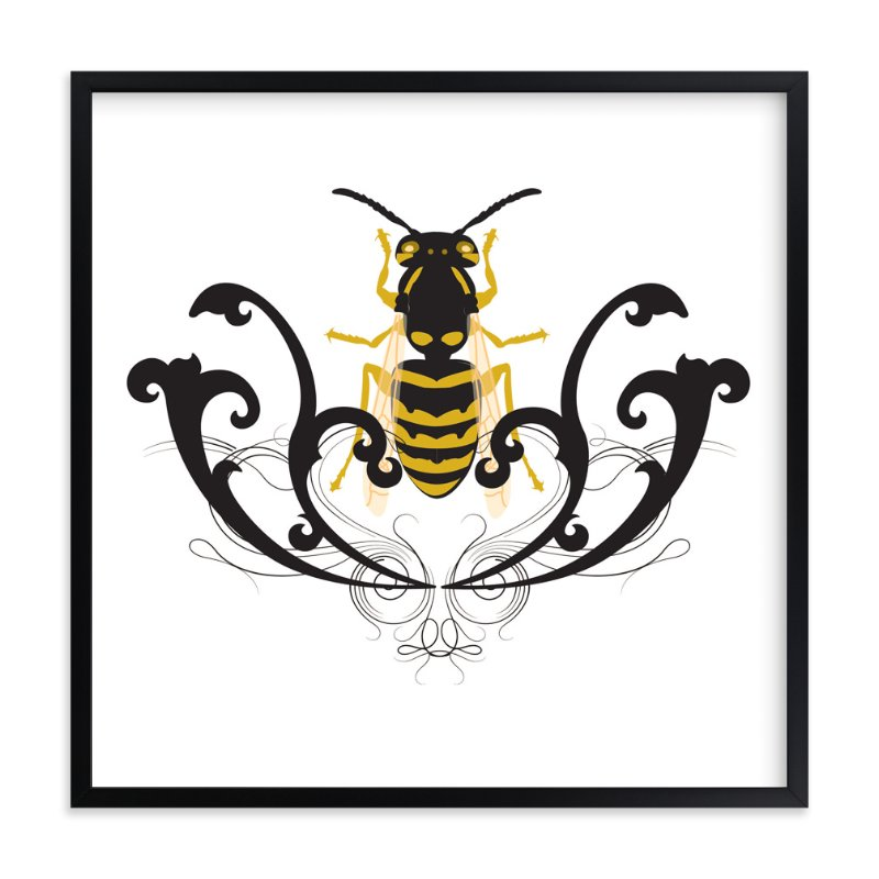 """Golden Beetle"" - Art Print by Katrina Leandro in beautiful frame options and a variety of sizes."