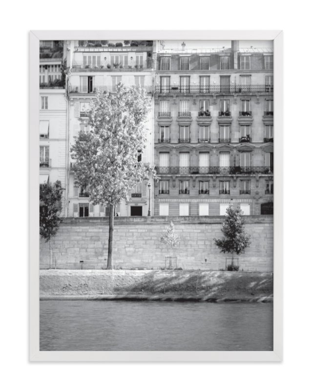 """Morning Walk on the Seine"" - Art Print by Sharon Rowan in beautiful frame options and a variety of sizes."