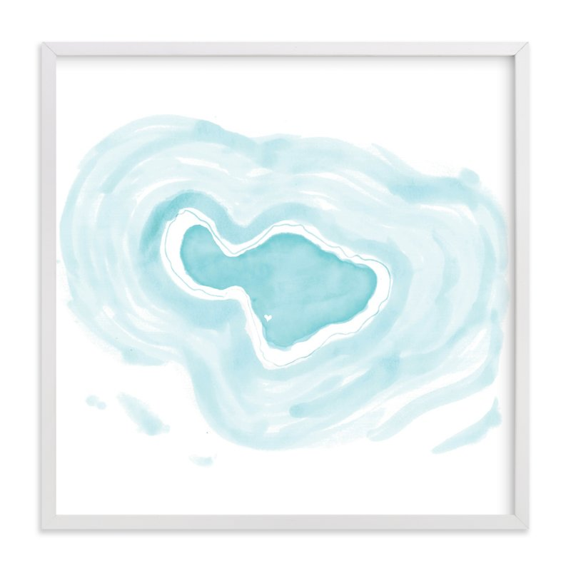 """Maui Love"" - Art Print by White Lemon Designs in beautiful frame options and a variety of sizes."