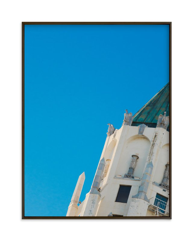 """""""Turquoise Tilt"""" - Art Print by Asha Nahas in beautiful frame options and a variety of sizes."""