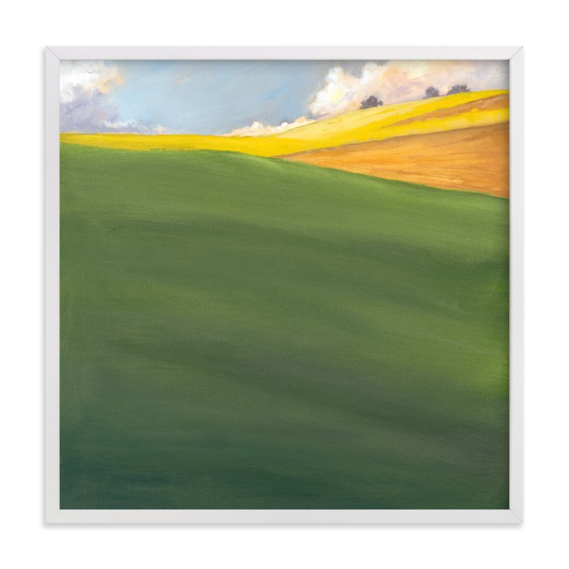 """September Hill"" - Art Print by Stephanie Goos Johnson in beautiful frame options and a variety of sizes."