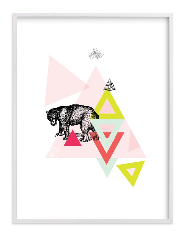 """Bear Geo"" - Art Print by Lady Noble in beautiful frame options and a variety of sizes."