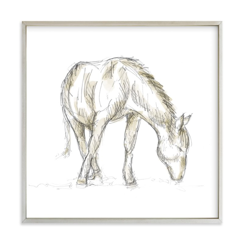 """Hungry Horse"" - Art Print by Susanne Kasielke in beautiful frame options and a variety of sizes."