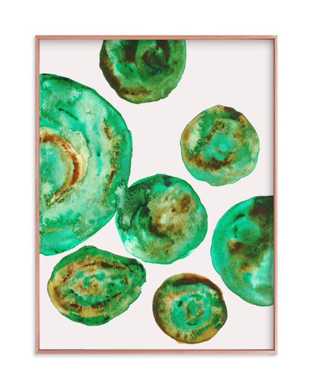 """Jade"" - Art Print by Belia Simm in beautiful frame options and a variety of sizes."