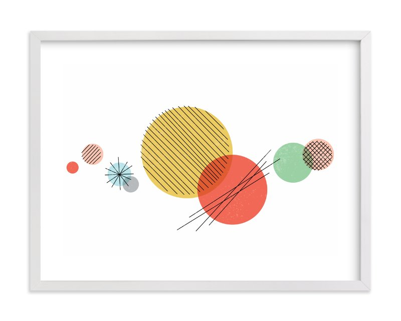 """""""Wonderful Solar System"""" - Art Print by Jessie Steury in beautiful frame options and a variety of sizes."""