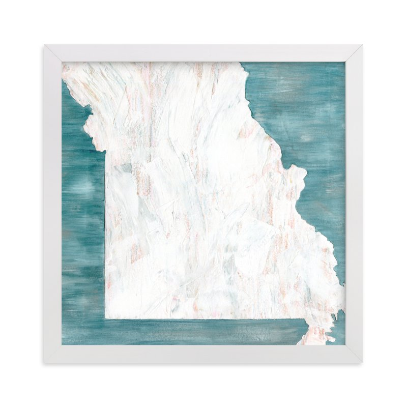 """""""Missouri in Paint"""" - Art Print by Denise Wong in beautiful frame options and a variety of sizes."""