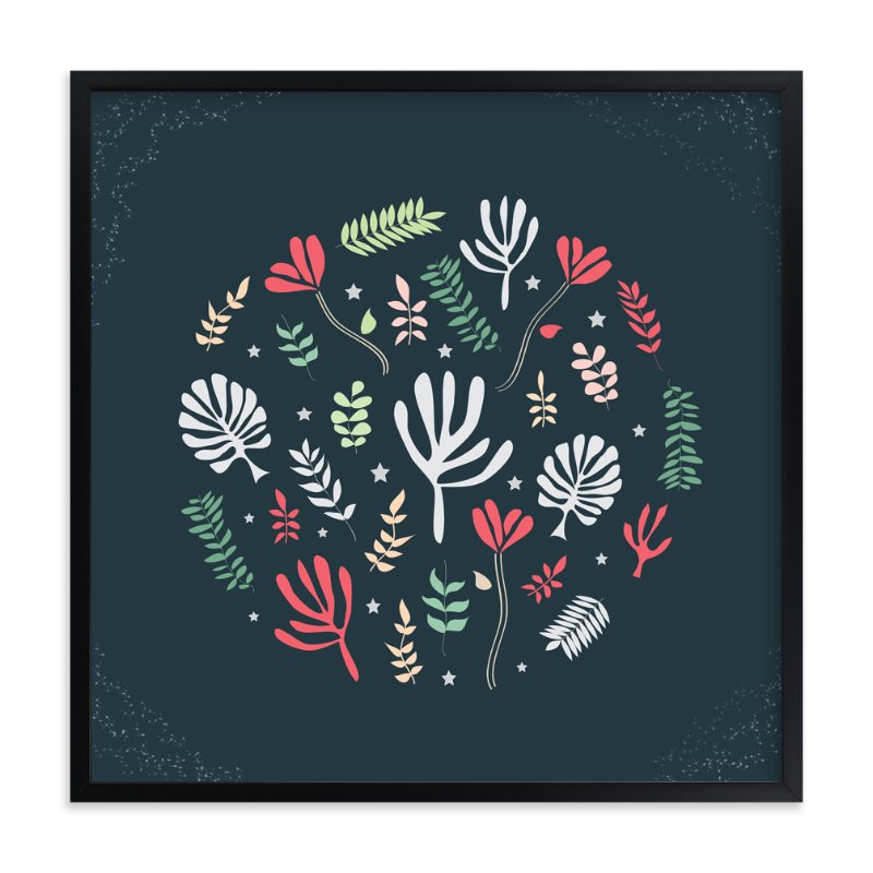 """""""Botanical Garden"""" - Art Print by Monica Schafer in beautiful frame options and a variety of sizes."""