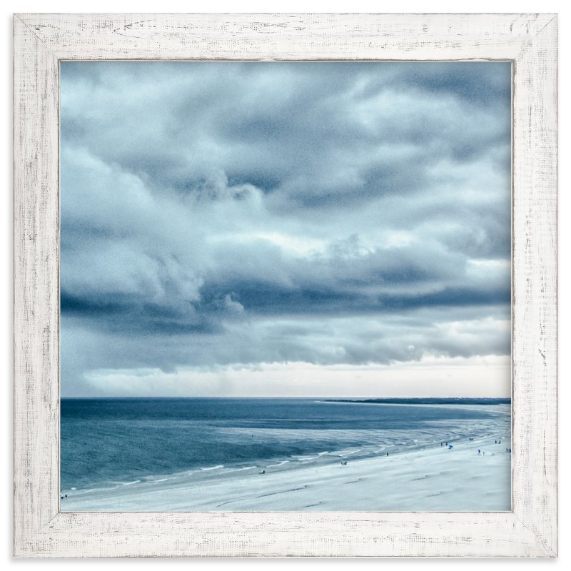 """""""Blue Beach Storm"""" - Art Print by Mary Ann Glynn-Tusa in beautiful frame options and a variety of sizes."""