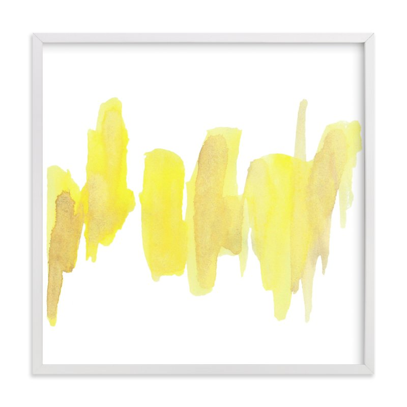 """The Beat of Yellow"" - Art Print by blackberry graphics in beautiful frame options and a variety of sizes."