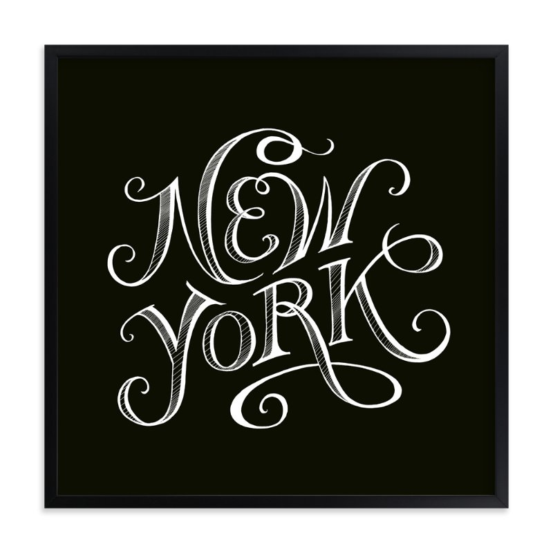 """Type Study New York"" - Art Print by pottsdesign in beautiful frame options and a variety of sizes."