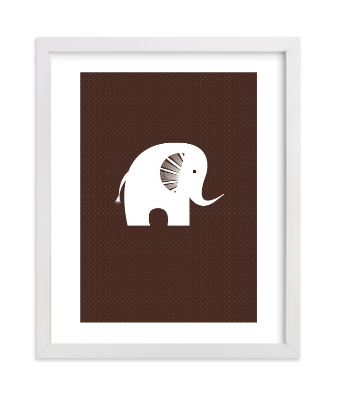 """""""Sophisticated Elephant"""" - Art Print by three percent milk in beautiful frame options and a variety of sizes."""
