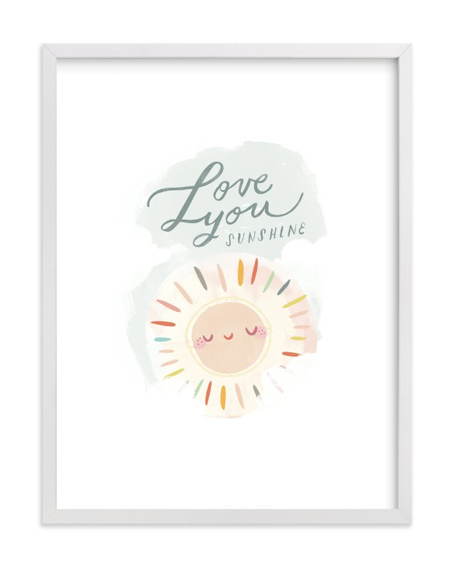 """Love You Sunshine"" - Limited Edition Art Print by Lori Wemple in beautiful frame options and a variety of sizes."