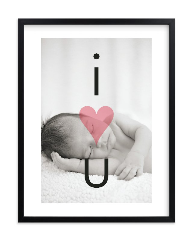 """I Heart U"" - Nursery Custom Photo Art Print by Precious Bugarin Design in beautiful frame options and a variety of sizes."