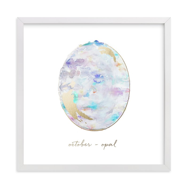 """""""October - Opal"""" - Foil-pressed Art Print by Naomi Ernest in beautiful frame options and a variety of sizes."""