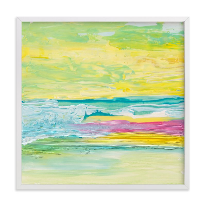 """Colorful Waves"" - Limited Edition Art Print by Lucrecia in beautiful frame options and a variety of sizes."