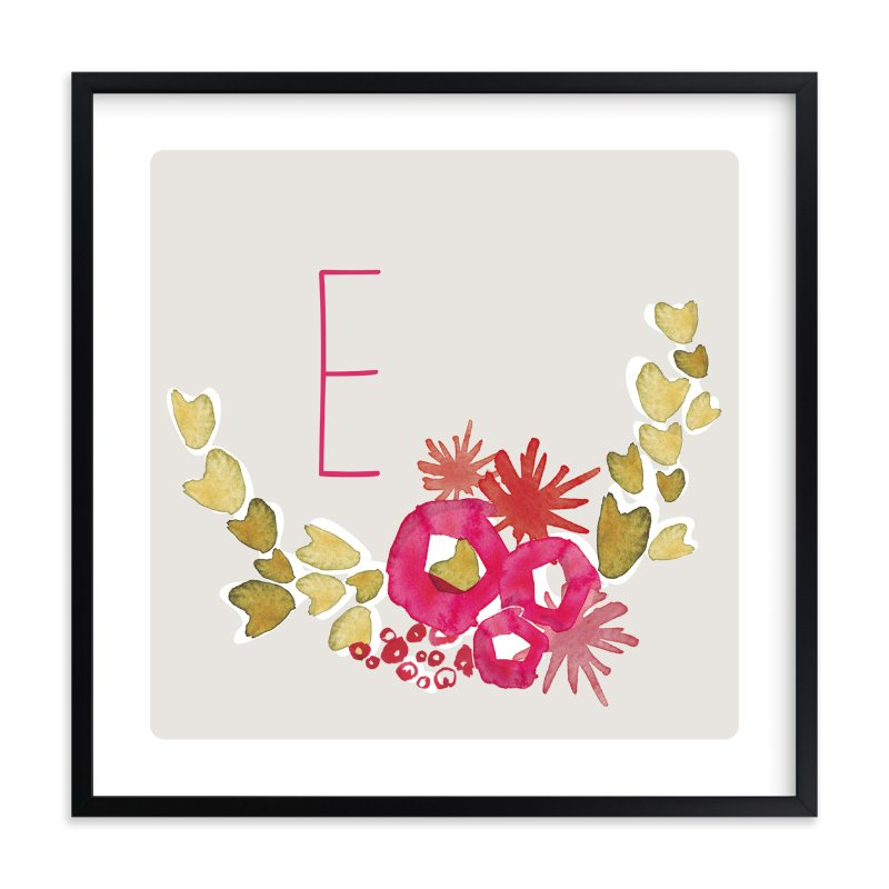 """Sweet Blossoms"" - Children's Custom Art Print by Kelly Ventura in beautiful frame options and a variety of sizes."