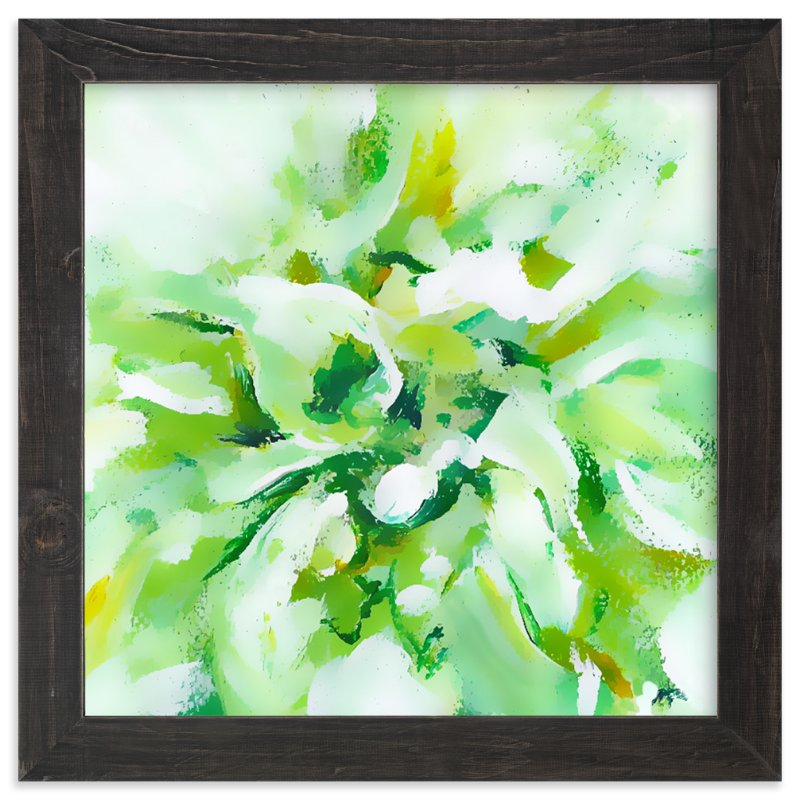 """""""White Dahlia"""" - Art Print by Jenny Partrite in beautiful frame options and a variety of sizes."""