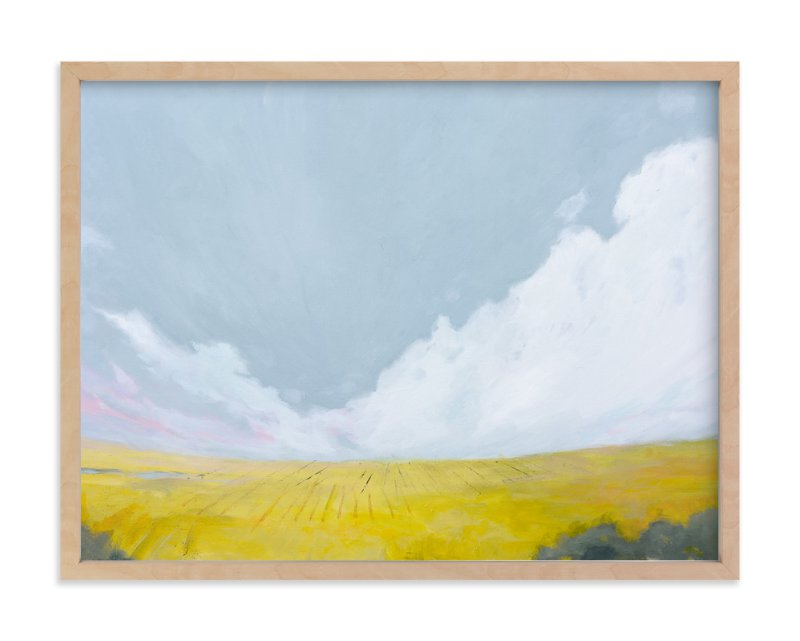 """Yellow Landscape"" - Art Print by Kara Schlabaugh in beautiful frame options and a variety of sizes."