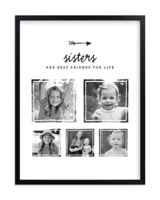 """Best Friends for Life - Sisters"" - Custom Photo Art Print by Kelly Nasuta in beautiful frame options and a variety of sizes."