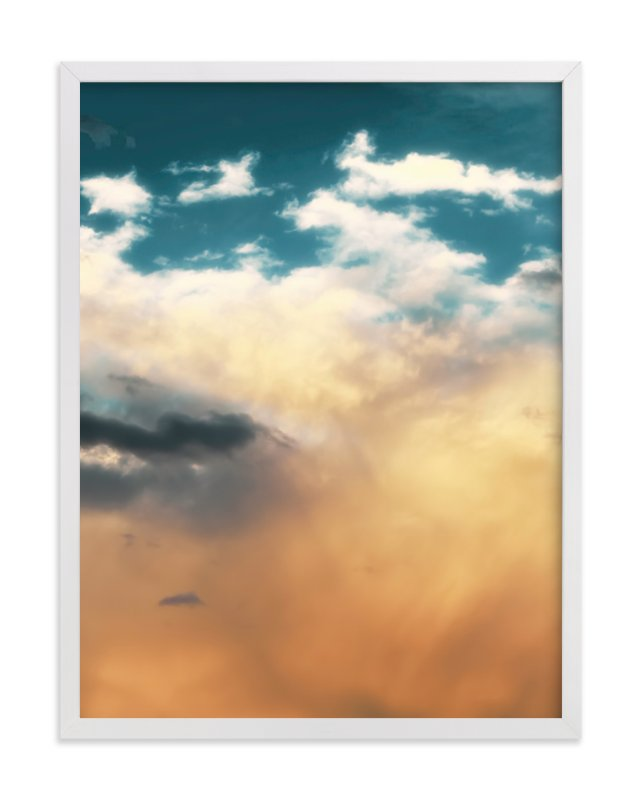 """Turquoise Heavens"" - Limited Edition Art Print by Debra Butler in beautiful frame options and a variety of sizes."